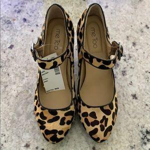 COPY - NWT Me Too Leopard Heels